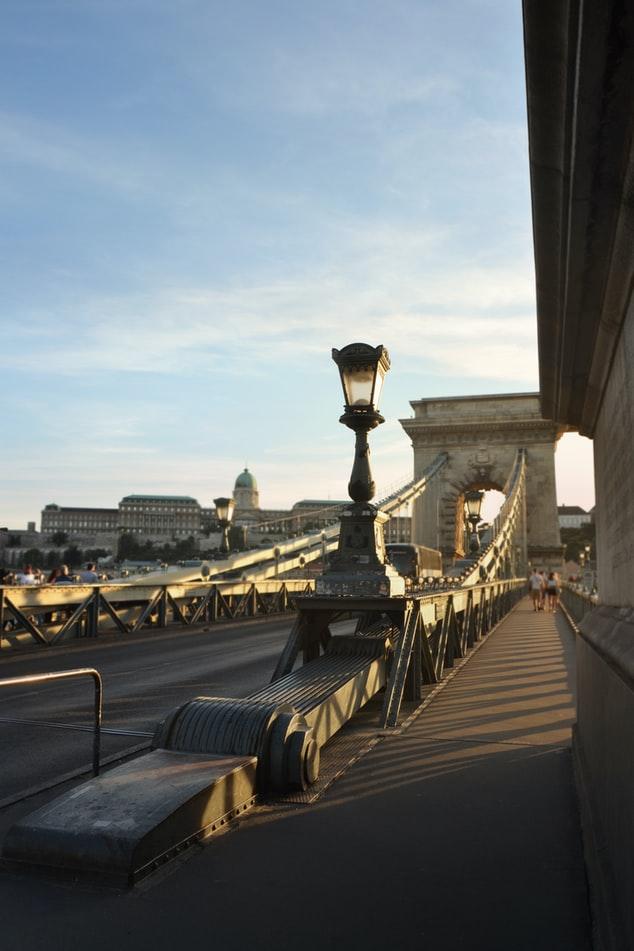 Die Kettenbrücke in Budapest